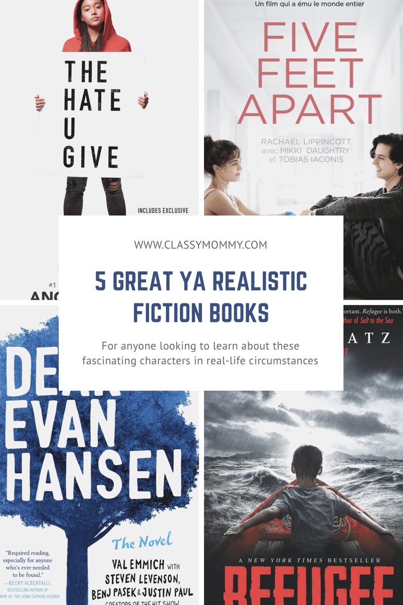 5 Must Read Realistic Fiction Books for Young Adults