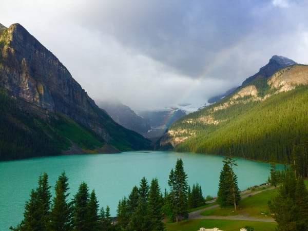 Lake Louise Rainbow Photo