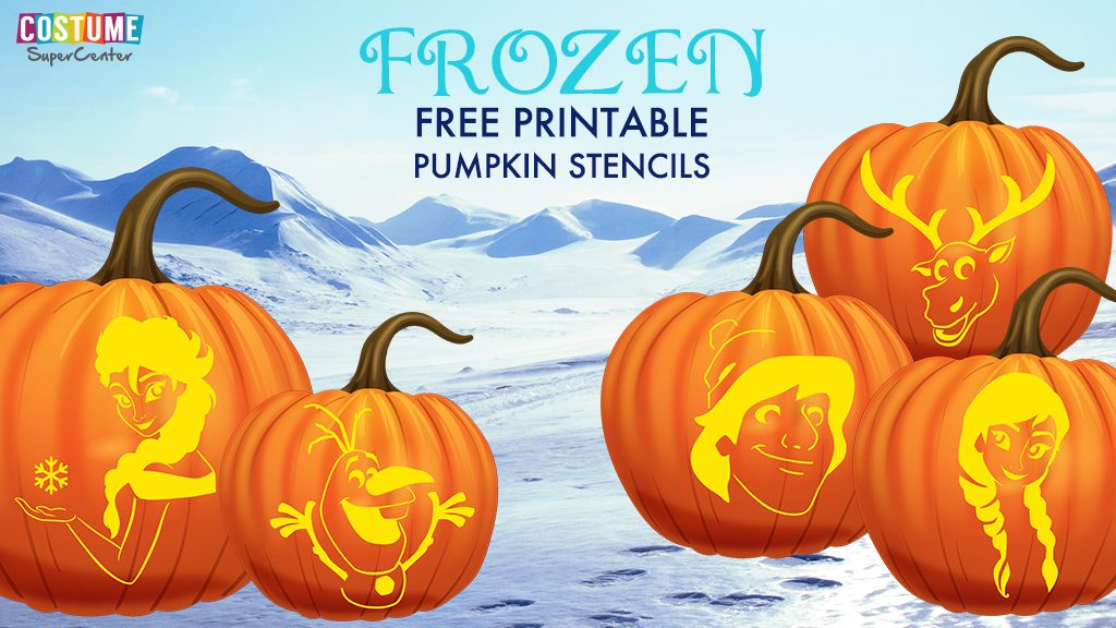 5 Free Frozen Pumpkin Carving Templates and Stencils