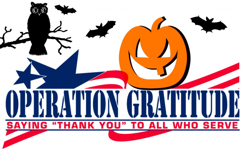 Operation Gratitude Halloween Candy donations