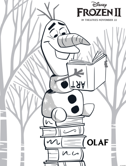 New Free Printable Frozen 2 Olaf Coloring Pages