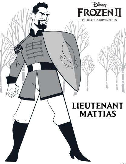 New Free Printable Frozen 2 Lieutenant Mattias Coloring Pages