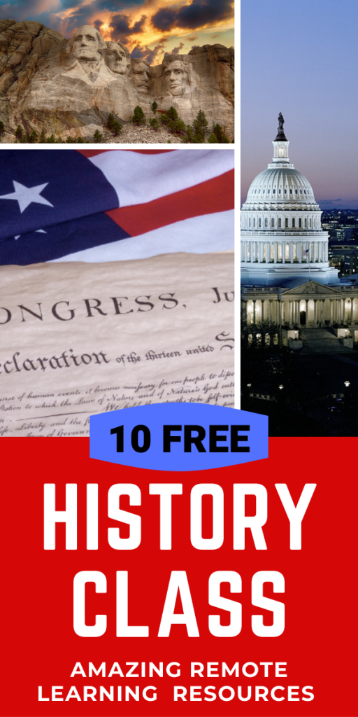 10 FREE HISTORY and GOVERNMENT Distance Learning Resources