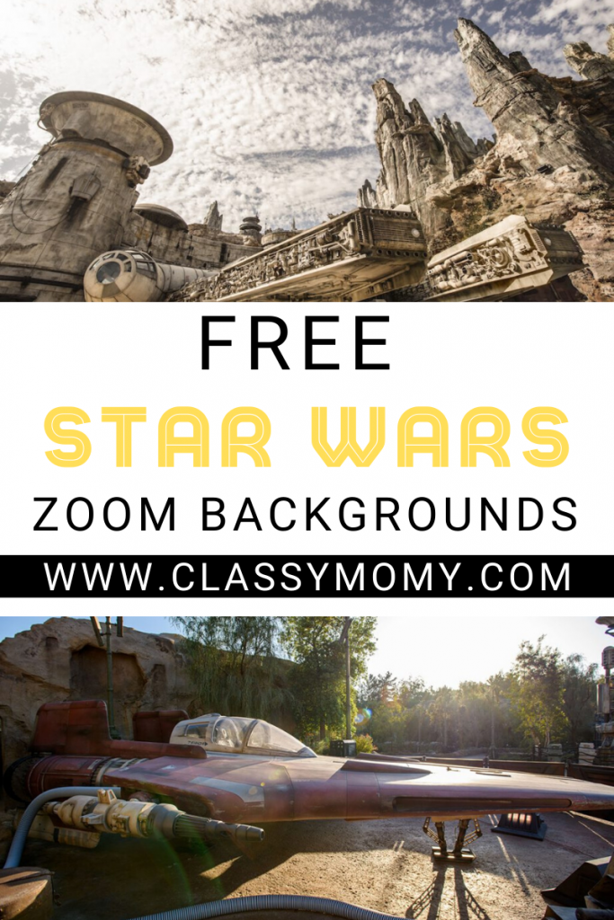 10 Free Star Wars Galaxy's Edge Zoom Backgrounds