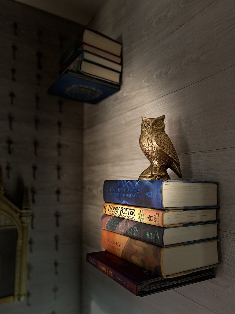 Harry Potter floating bookshelves