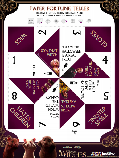 The Witches Free Printable Paper  Fortune Teller
