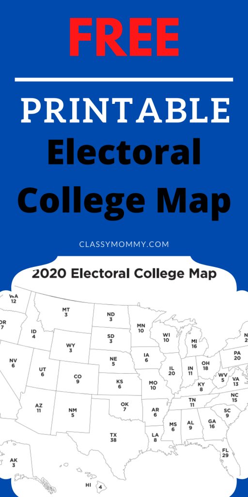 Printable Electoral College Map