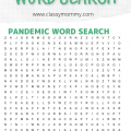 Free Printable Pandemic Word Search